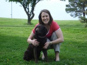 Michelle and Maddie dog